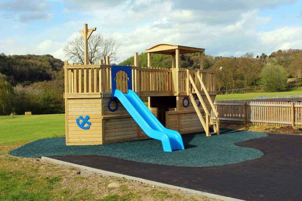captain reubens pirate ship school playground equipment installation