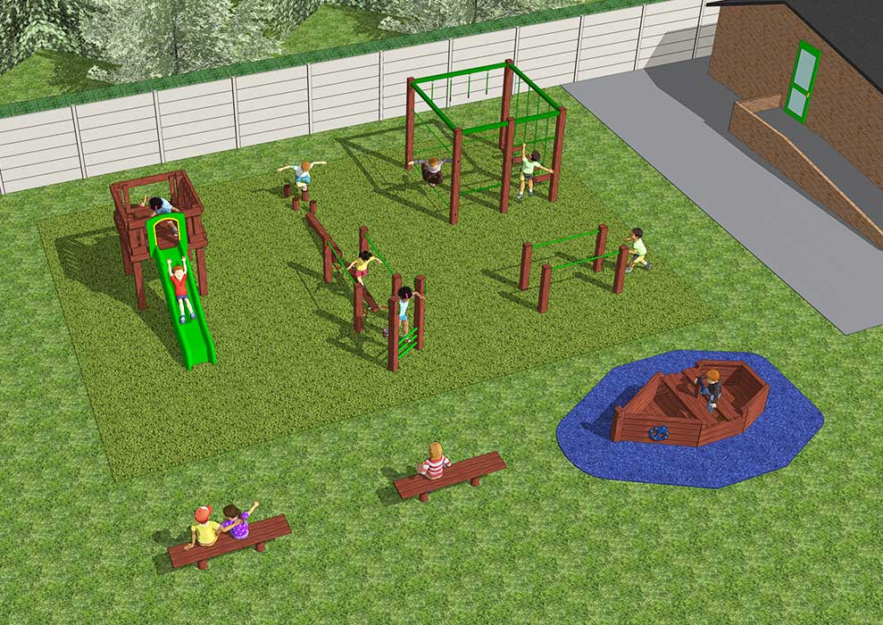Fishponds Wandsworth 3D Playground Design