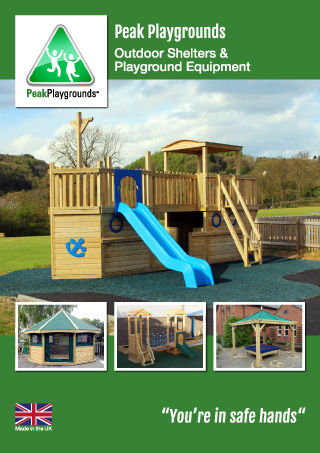 Peak Playgrounds playground equipment and outdoor classrooms brochure
