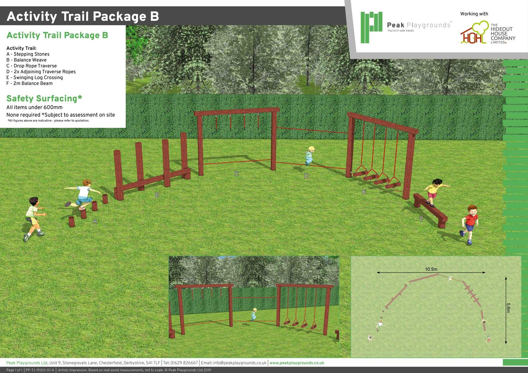 plastic playground equipment 3d design drawing presentation