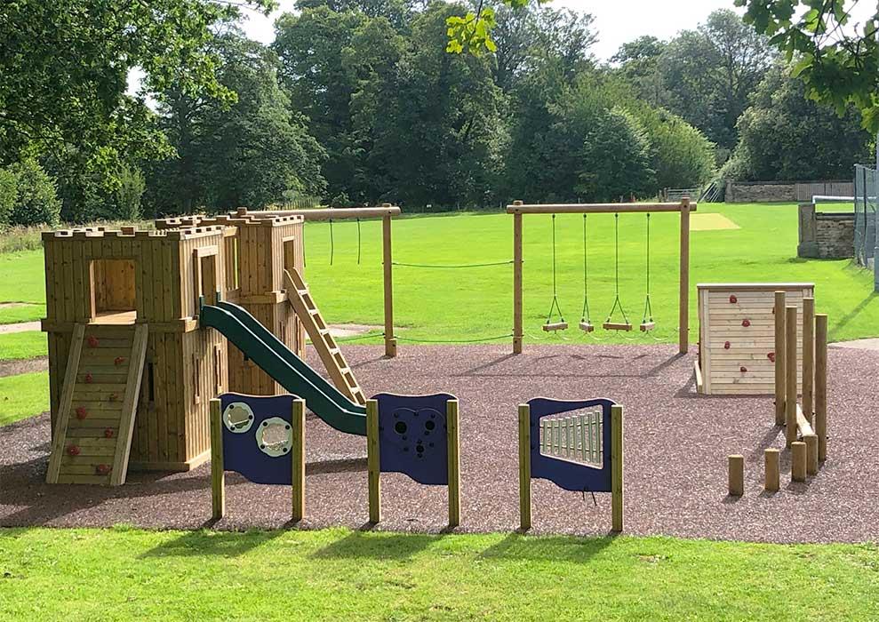Playground equipment designed in the UK
