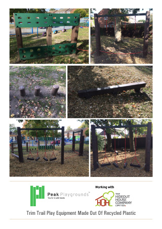 recycled plastic adventure trim trails playground equipment brochure