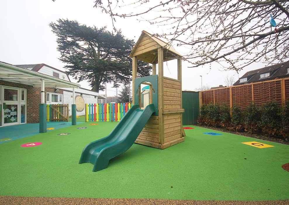 Playground safety surfacing refurbishment