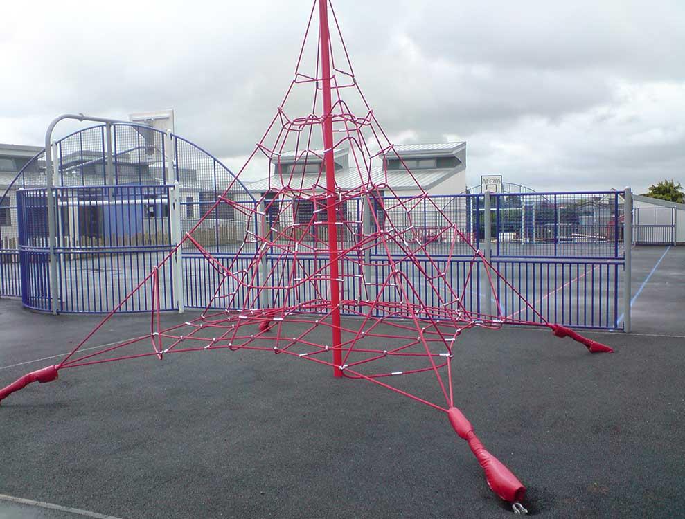 4m playground net pyramid