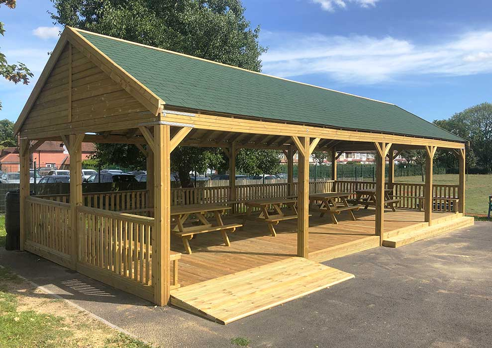 Bespoke Outdoor Picnic Shelter with Ramp