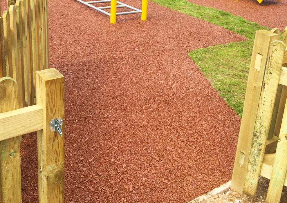 Bonded Rubber Mulch Playground Safety Surfacing