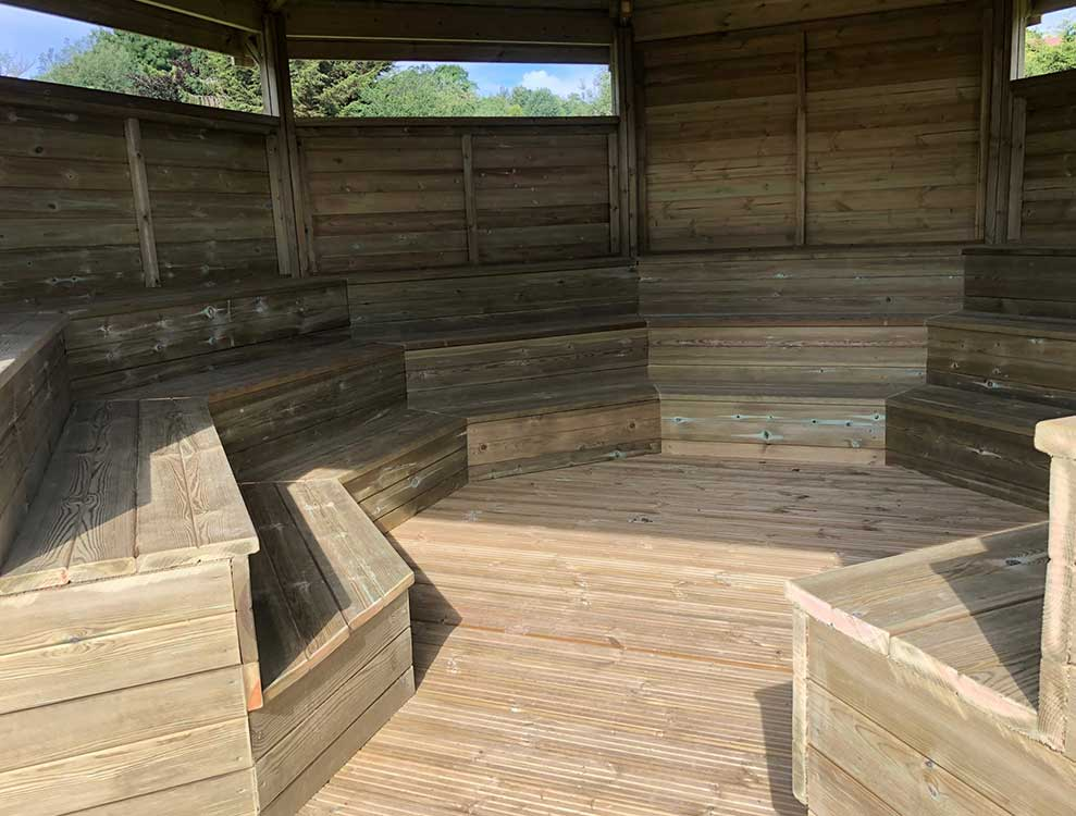 Outdoor Amphitheatre classroom Seating