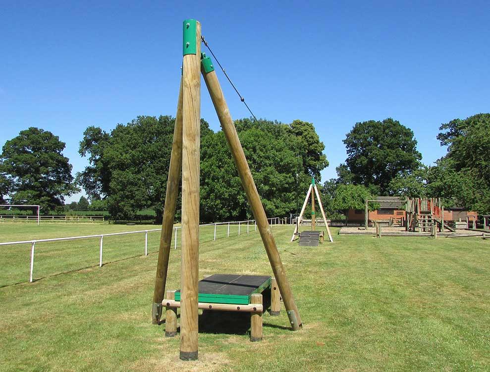 dual direction playground zipline