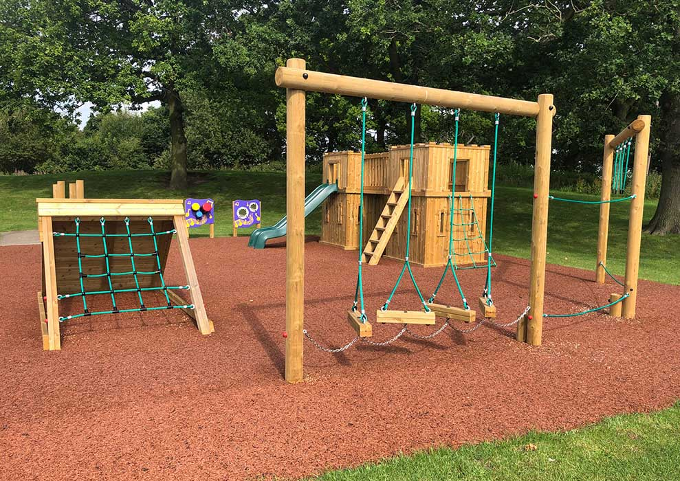 Wooden Activity Trim Trail